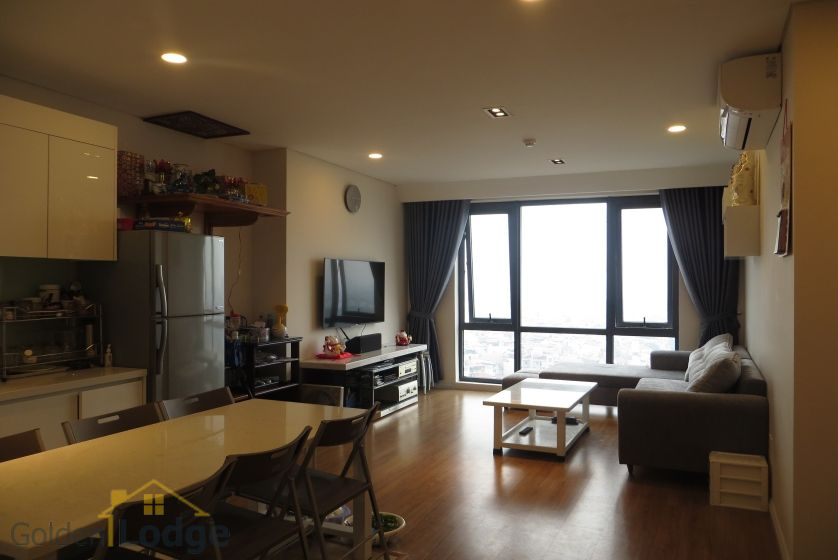 Apartment in Mipec Riverside for rent with 2 bedrooms, river view 3