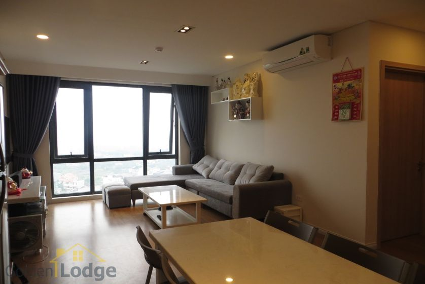 Apartment in Mipec Riverside for rent with 2 bedrooms, river view 4