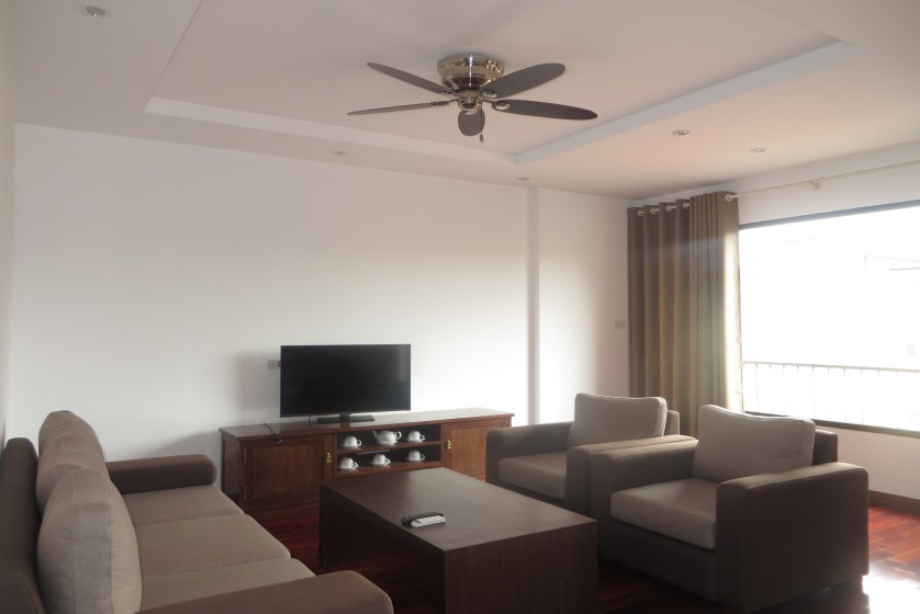 Bright 02 bedroom apartment rental on To Ngoc Van Tay Ho