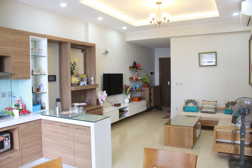 Corner furnished two bedroom apartment in Trang An Complex to rent