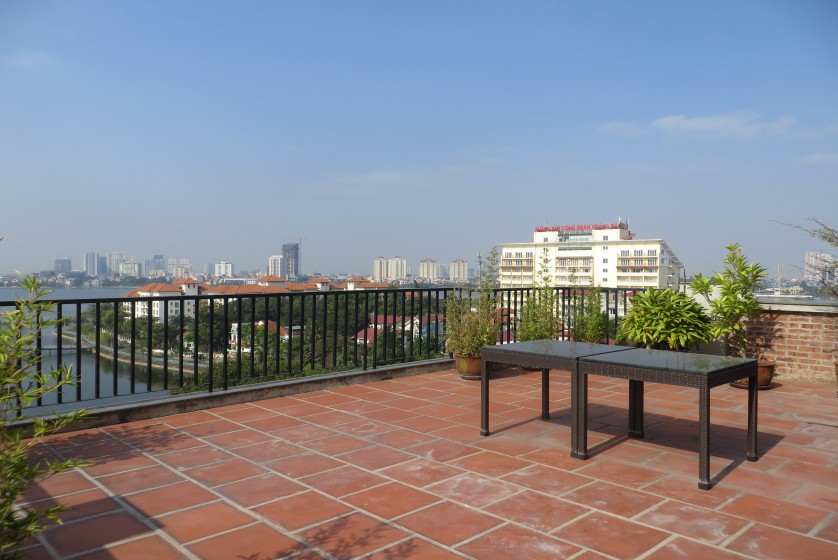 Four bedroom duplex apartment to lease in Tay Ho Hanoi