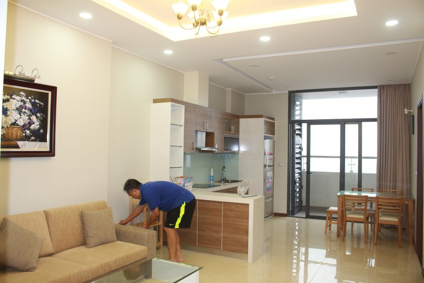 Furnished apartment to rent in Trang An Complex 95m2 balcony