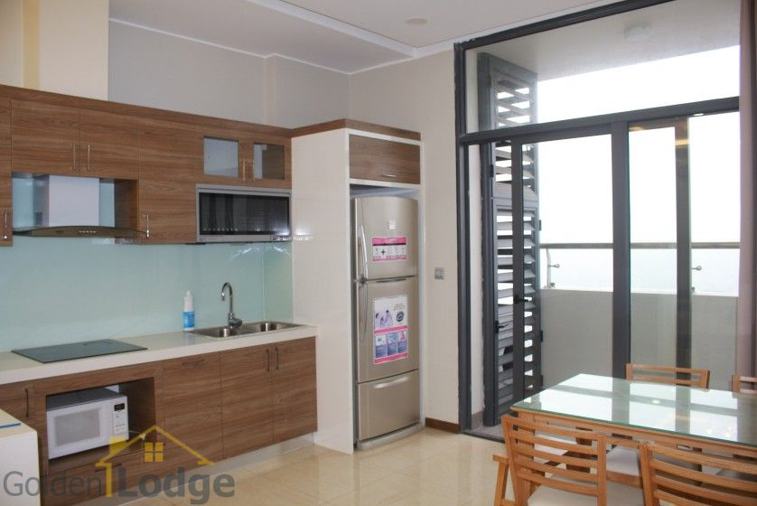 Furnished apartment to rent in Trang An Complex 95m2 balcony 4