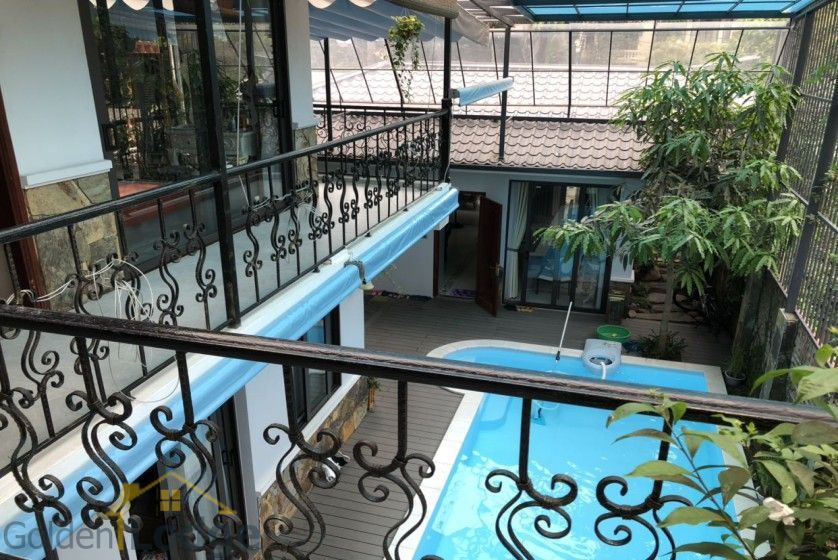 Furnished and swimming pool Tay Ho villa for rent 4 bedrooms 13