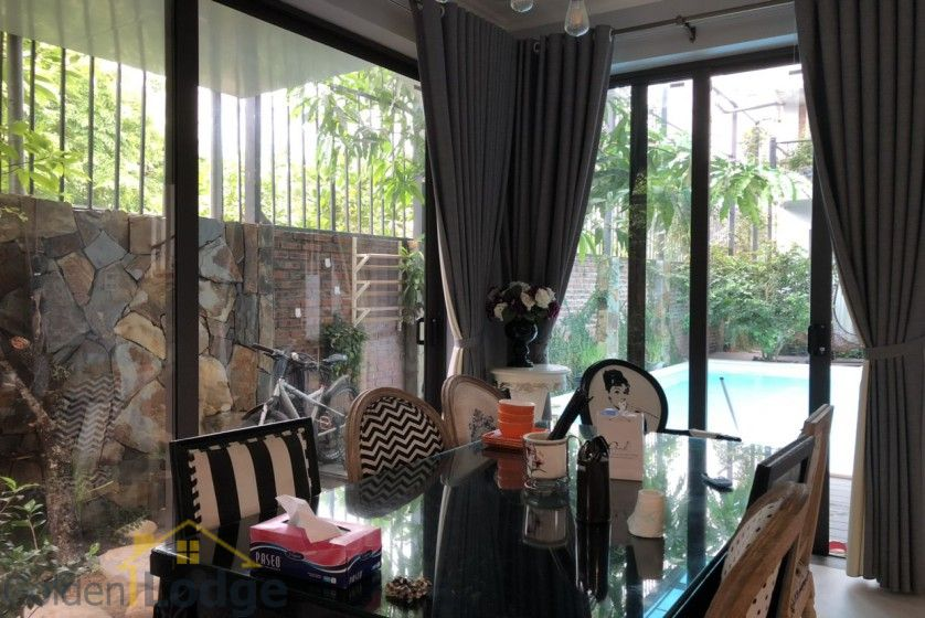 Furnished and swimming pool Tay Ho villa for rent 4 bedrooms 6