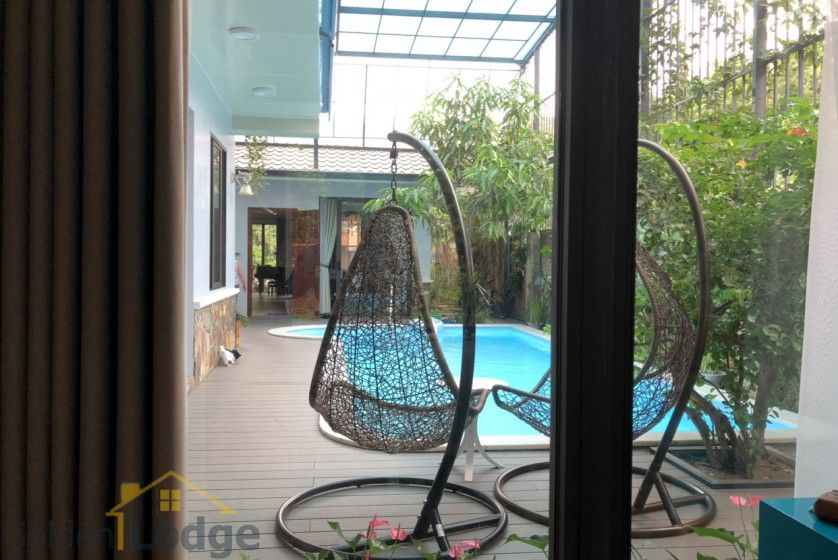 Furnished and swimming pool Tay Ho villa for rent 4 bedrooms 7