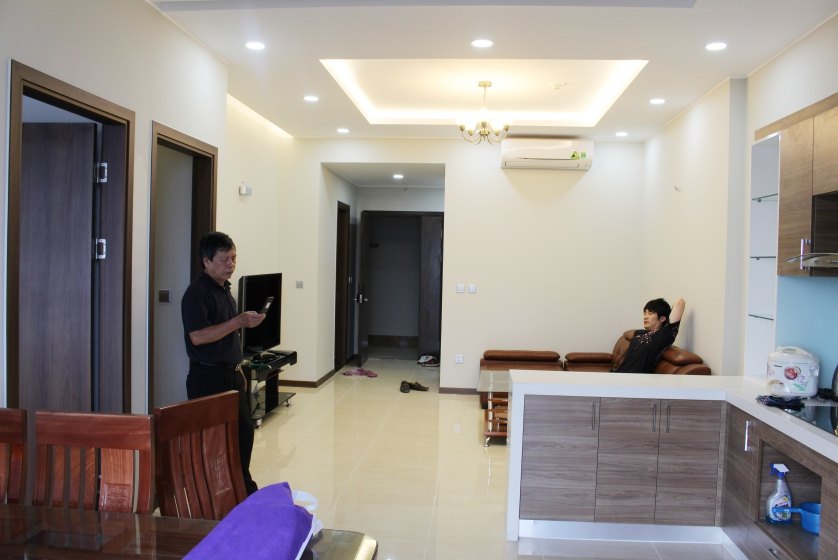 Furnished Trang An Complex apartment rental with 2 + 1 bedroom