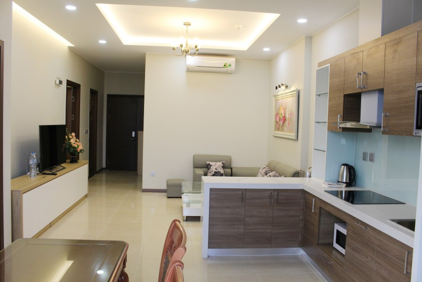 Furnished Trang An Complex apartment with balcony, City view