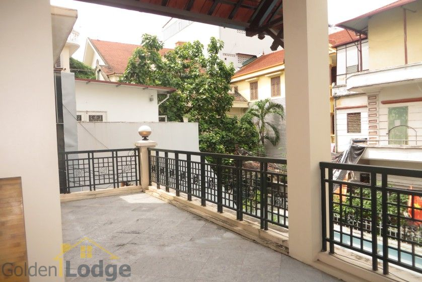 House in Xuan Dieu Tay Ho, Hanoi to lease with swimming pool 11