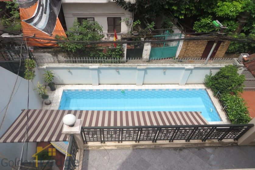 House in Xuan Dieu Tay Ho, Hanoi to lease with swimming pool 24