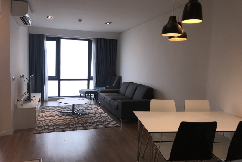 Lake view Mipec Riverside apartment for rent on high floor furnished
