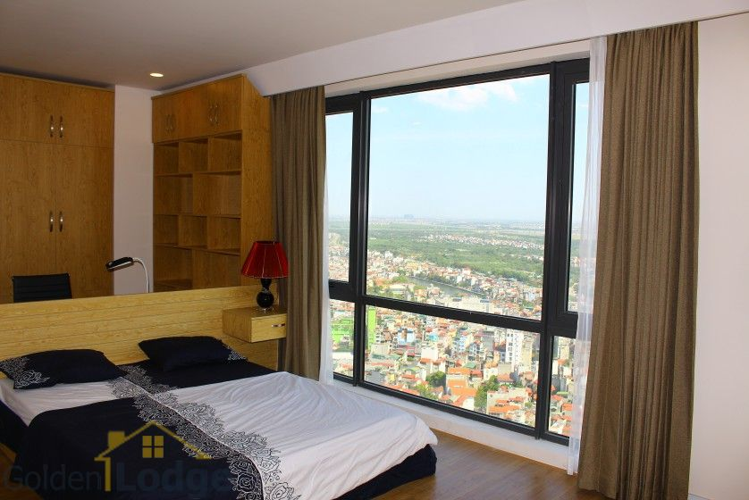 Mipec Riverside 03 bedroom apartment to rent with furnished nice view 8