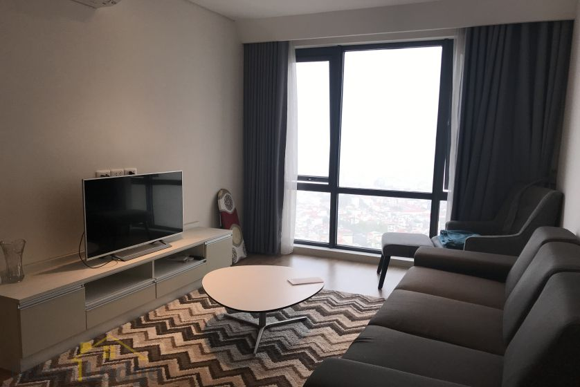 Lake view Mipec Riverside apartment for rent on high floor furnished 1