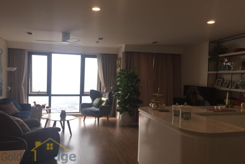 Rent three bedroom apartment in Mipec Riverside furnished 2