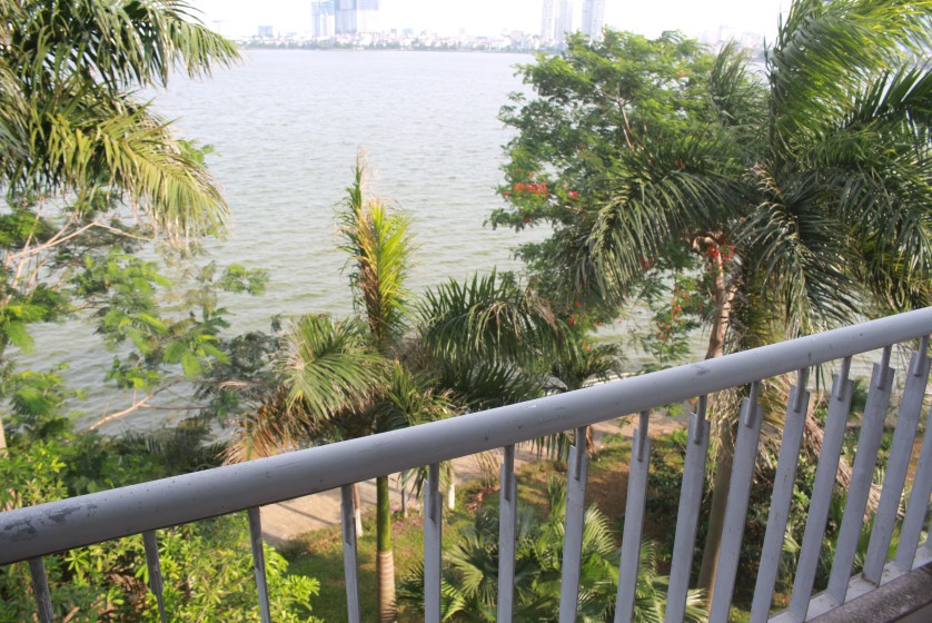 Rooftop terraced house for rent in Tay Ho with lake view