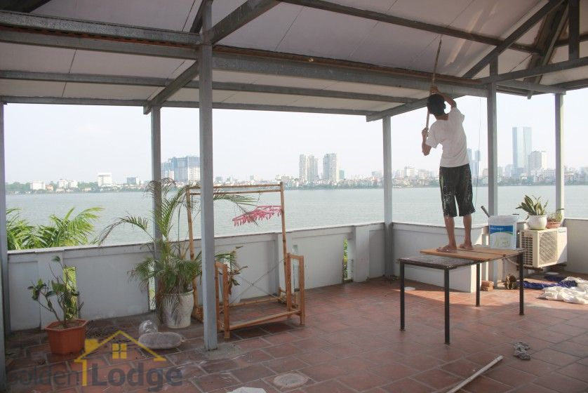 Rooftop terraced house for rent in Tay Ho with lake view 26