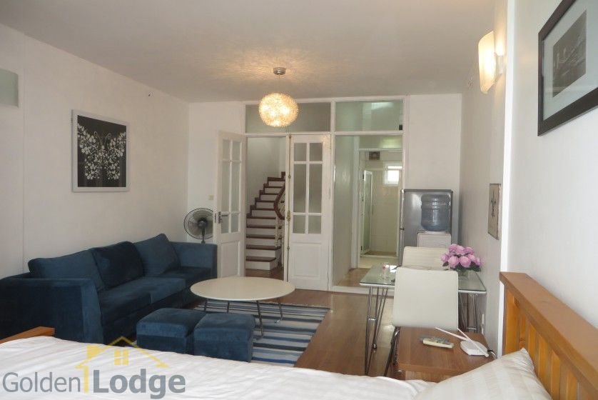 Studio apartment in Nghi Tam village Tay Ho with balcony