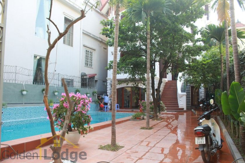 Swimming pool house in To Ngoc Van street, Tay Ho for rent 1