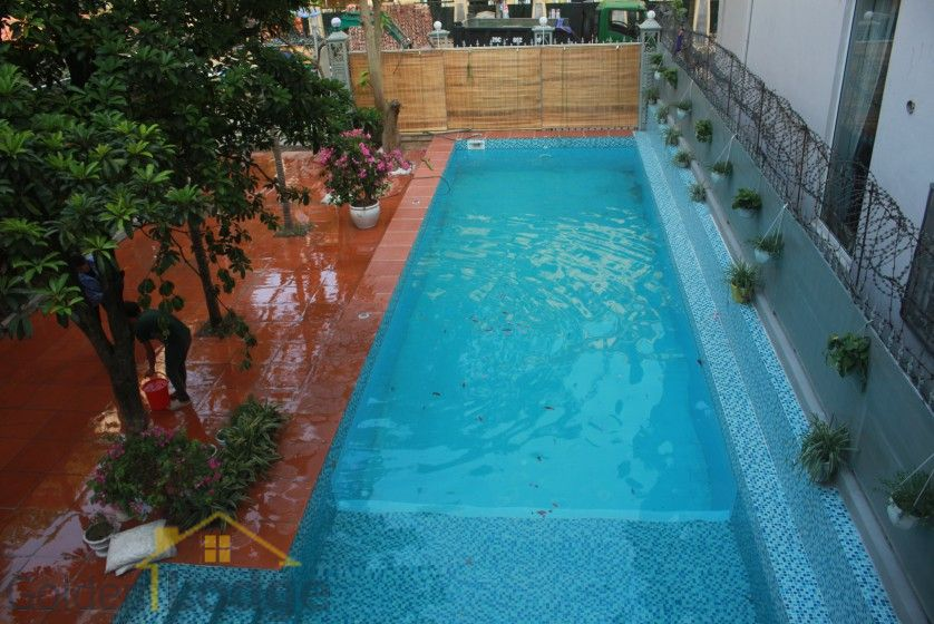 Swimming pool house in To Ngoc Van street, Tay Ho for rent 12