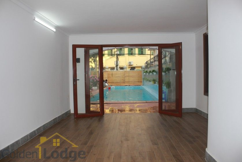 Swimming pool house in To Ngoc Van street, Tay Ho for rent 5