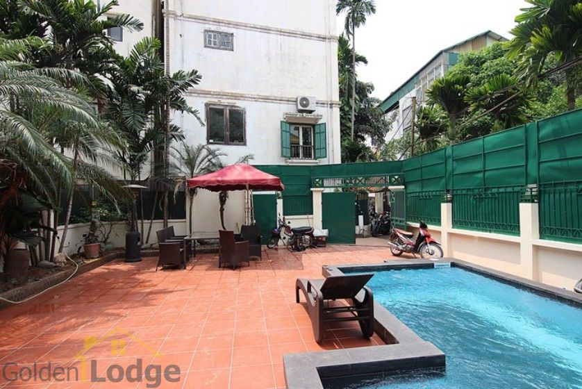 Swimming pool house in To Ngoc Van street, Tay Ho Westlake 1