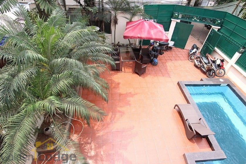 Swimming pool house in To Ngoc Van street, Tay Ho Westlake 4