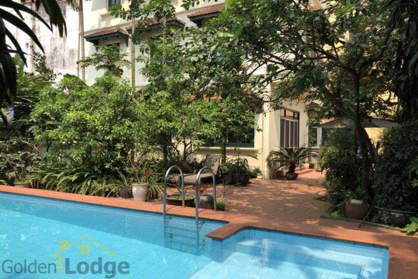 Swimming pool villa in Tay Ho, Hanoi for rent, five bedrooms 4