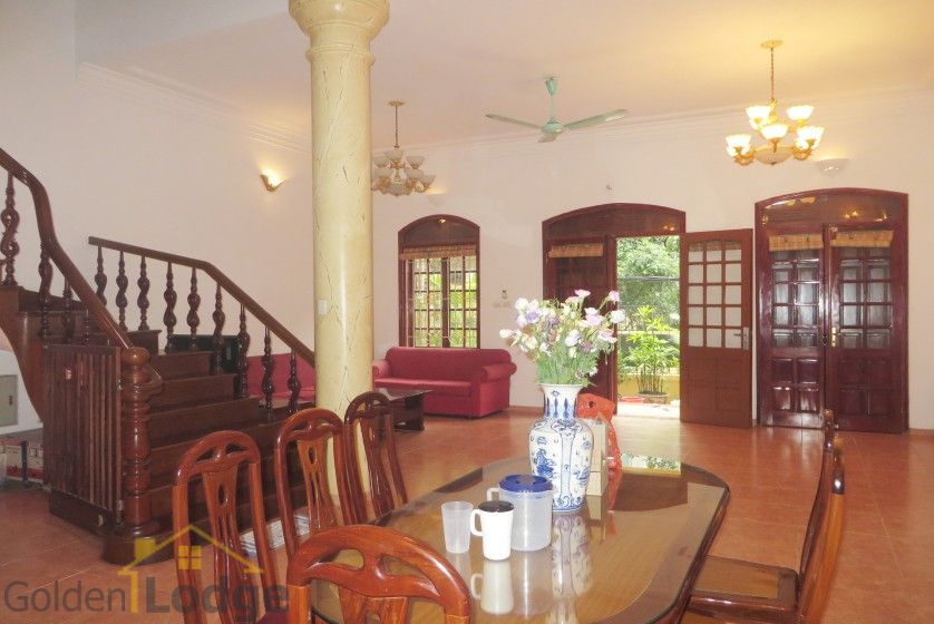 Tay Ho house rental with furnished composed 4 beds garden 8