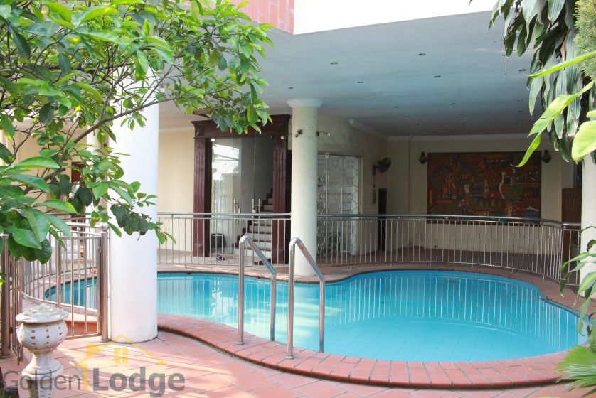 Terraced house in Tay Ho district for rent with swimming pool 3