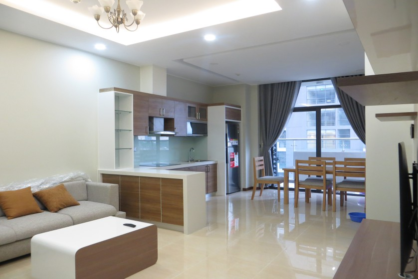 Unique 2 + 1 bedroom apartment rental in Trang An Complex furnished