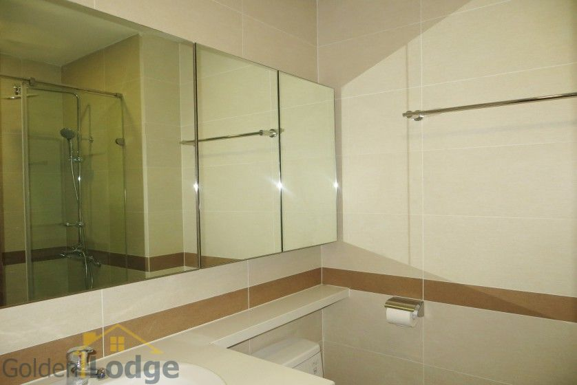 Unique 2 + 1 bedroom apartment rental in Trang An Complex furnished 12