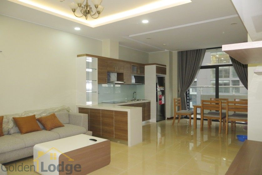 Unique 2 + 1 bedroom apartment rental in Trang An Complex furnished 2