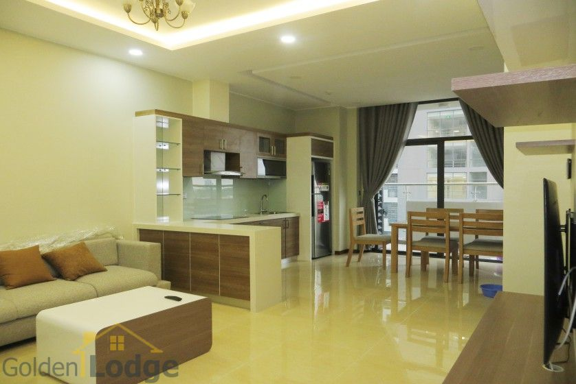 Unique 2 + 1 bedroom apartment rental in Trang An Complex furnished 3