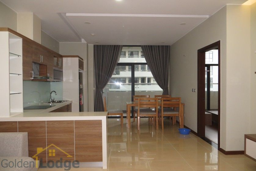 Unique 2 + 1 bedroom apartment rental in Trang An Complex furnished 4