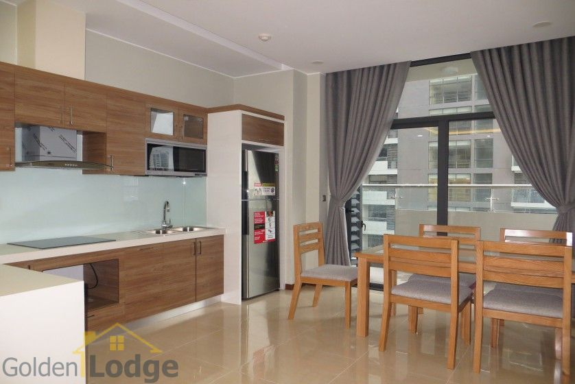Unique 2 + 1 bedroom apartment rental in Trang An Complex furnished 6